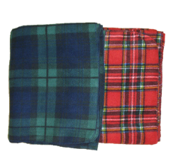 Premium PLAID Fleece Baby Blankets, B100