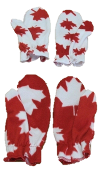 Premium Patriotic Fleece Mitts, MS09