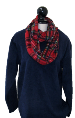 Premium Plaid  Infinity Fleece Scarf, S90