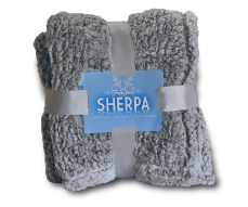 Luxury Frosted Sherpa Fleece Blankets, B153