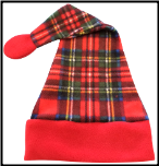 Luxury Plaid Print Holiday Santa Hats, HS06
