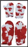 Printed Fleece Mitts