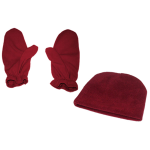 Deluxe Micro Fleece ScDeluxe Micro Fleece Beanie & Mitts Set, T07MS03