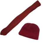 Deluxe Micro Fleece Youth Scarf & Beanie Set, YS59YT07