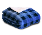 Luxury Plaid Micro Mink Sherpa Blanket, B151