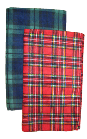 Luxury PLAID Fleece Airline Blankets, B104