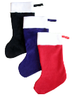 Deluxe Holiday Fleece Stockings, FS04